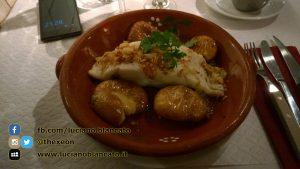Lisbona - Bacalau e patate al forno... semplicemente divino!