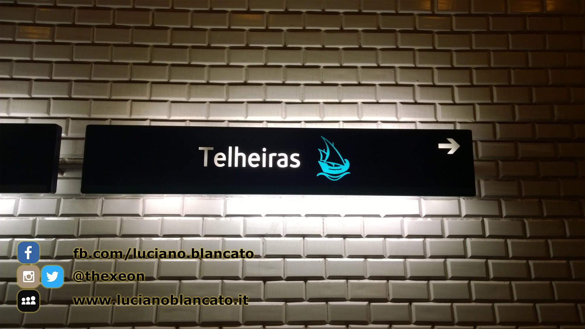 Lisbona - dettaglio metro, Telheiras