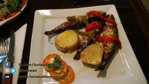 Lisbona - Sarda grigliata con patata al forno e peperoni arrostiti! gnam!!!