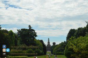 Milano - Parco sempione - castello sforzesco