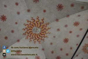 Milano - Castello sforzesco - cortili interni - dettaglio soffitto