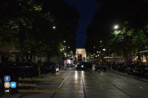 Milano - vista arco della pace / castello sforzesco