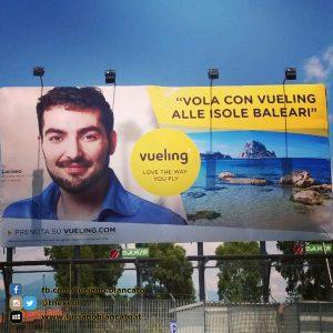 Pubblicità Vueling a Catania (CT) - #VuelingAmbassador