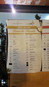ViniMilo 37a edizione - Elenco vini Bianchi e Rosati