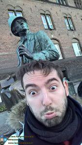 Statue of Andersen - Hans Christian Andersen Statue - Copenaghen - Danimarca