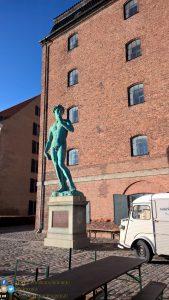 in giro per Copenaghen (David statue) - Danimarca