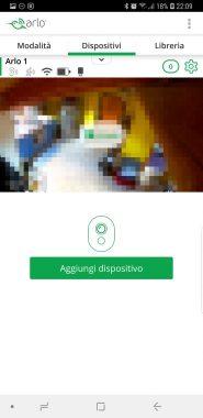 Arlo APP - Android - Schermata home con live view delle cam