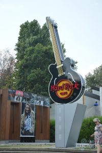 Hard Rock Cafe - insegna, Șoseaua Kiseleff, Bucarest, Romania