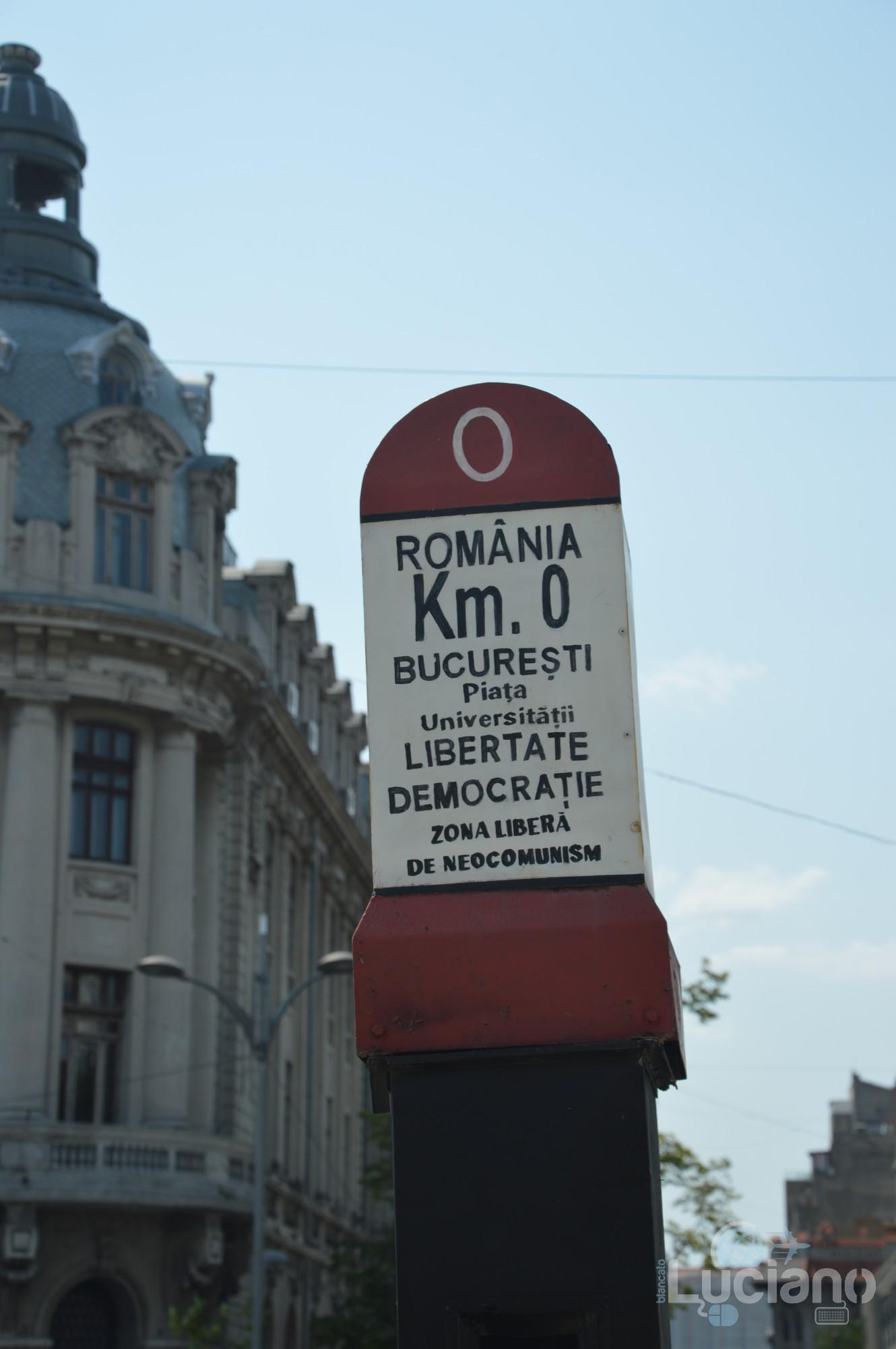 Kilometre Zero - km zero - Bucarest