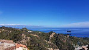 Panorama su mar ionico - vista da Savoca (ME)