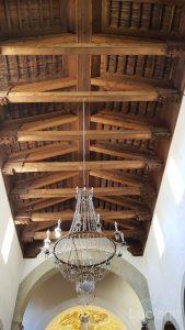tetto in legno - chiesa - Savoca (ME)