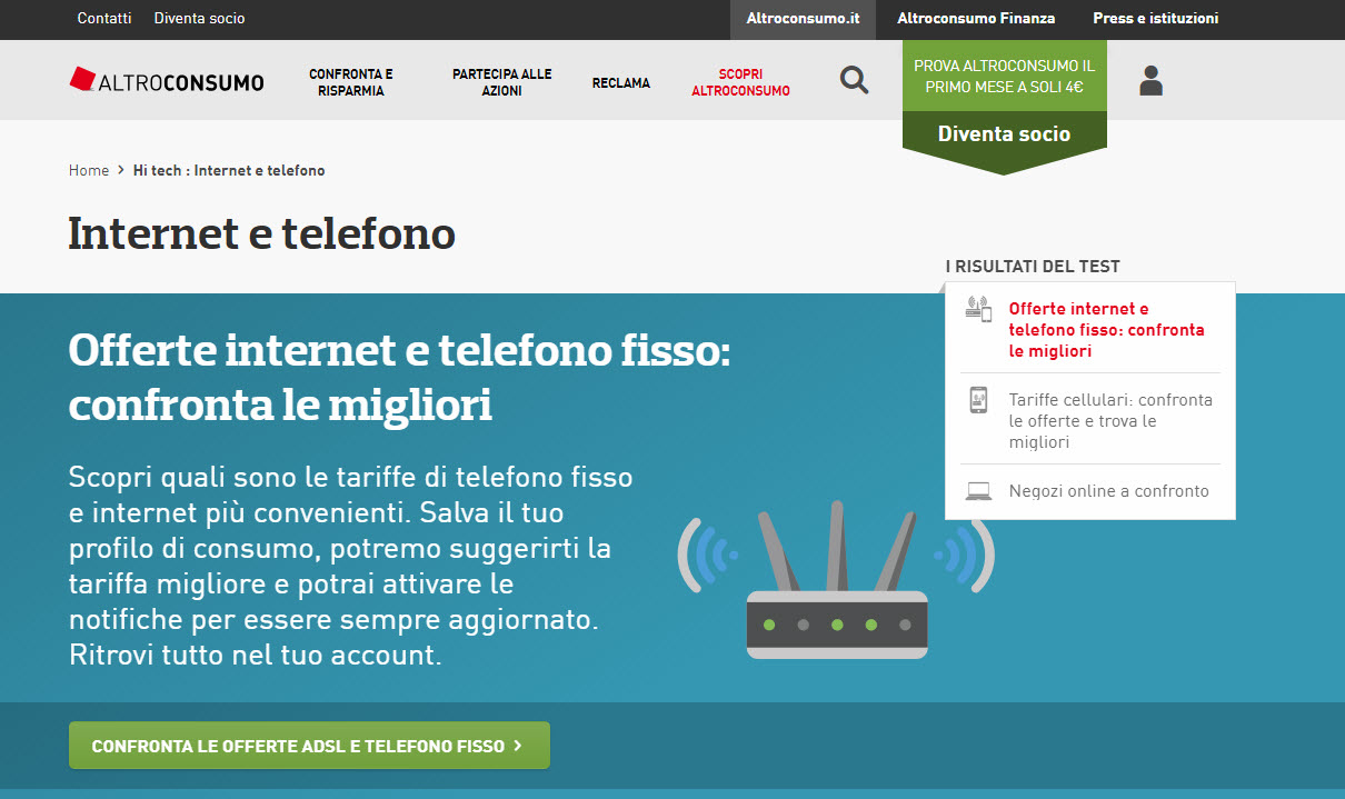 AltroConsumo.it – Comparatori on line per: Telefono, Internet, C/C, Prestiti e tanto altro!