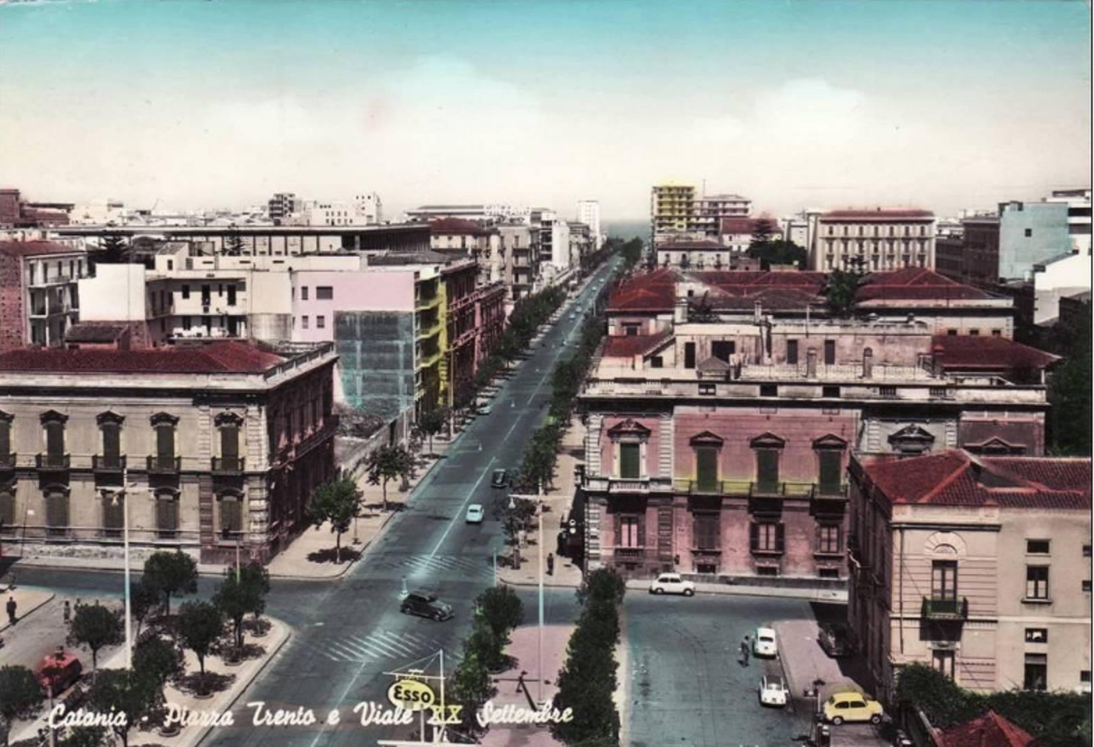 Catania antica: Piazza Treno e Viale XX Settembre