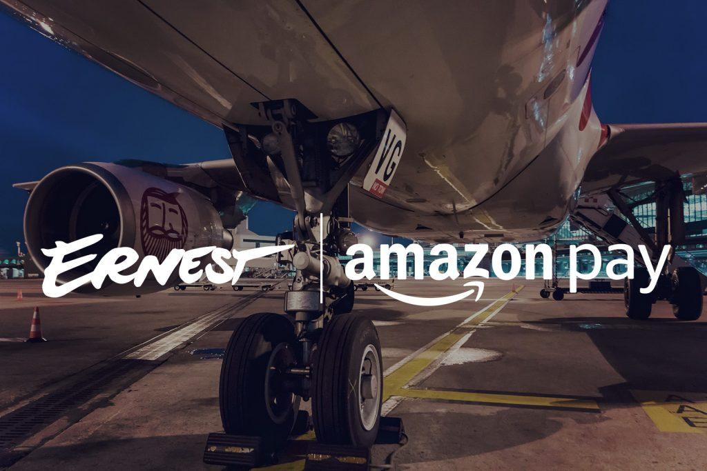 Ernest Airlines, introduce Amazon Pay come modalità di pagamento
