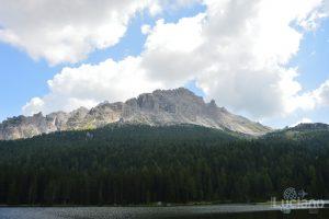 Vista sul Lago di Misurina e sulle dolomiti - Rifugio Col de Varda - Tre Cime di Lavaredo  Veneto