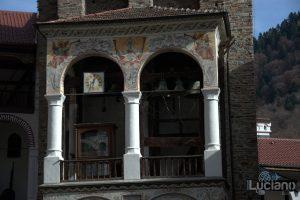Torre con campanile, nel Cortile interno al Monastero di Rila, Рилски Манастир, Rilski Manastir - Sofia - Bulgaria
