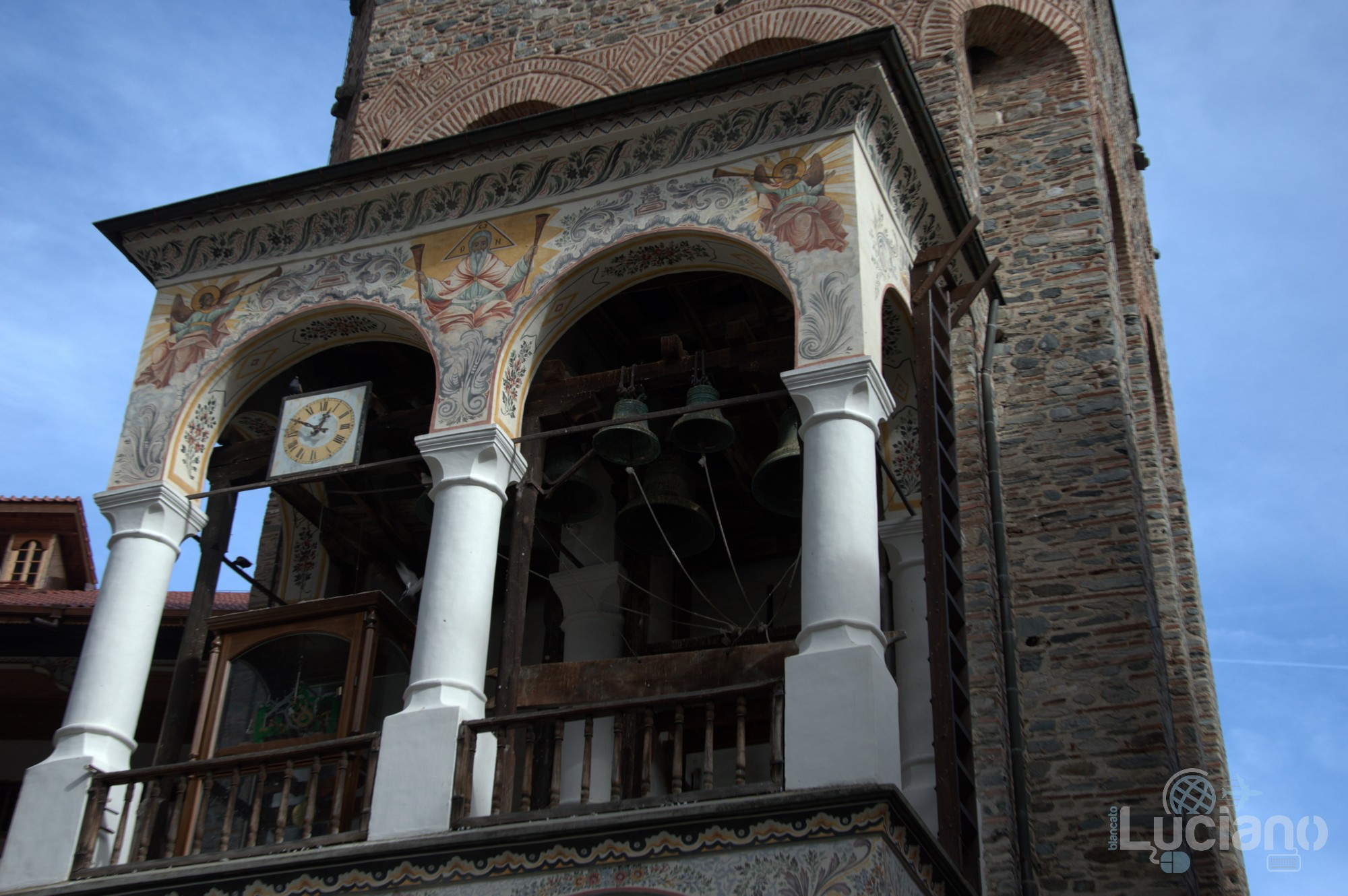 Vista interna - campanile - Monastero di Rila, Рилски Манастир, Rilski Manastir - Sofia - Bulgaria