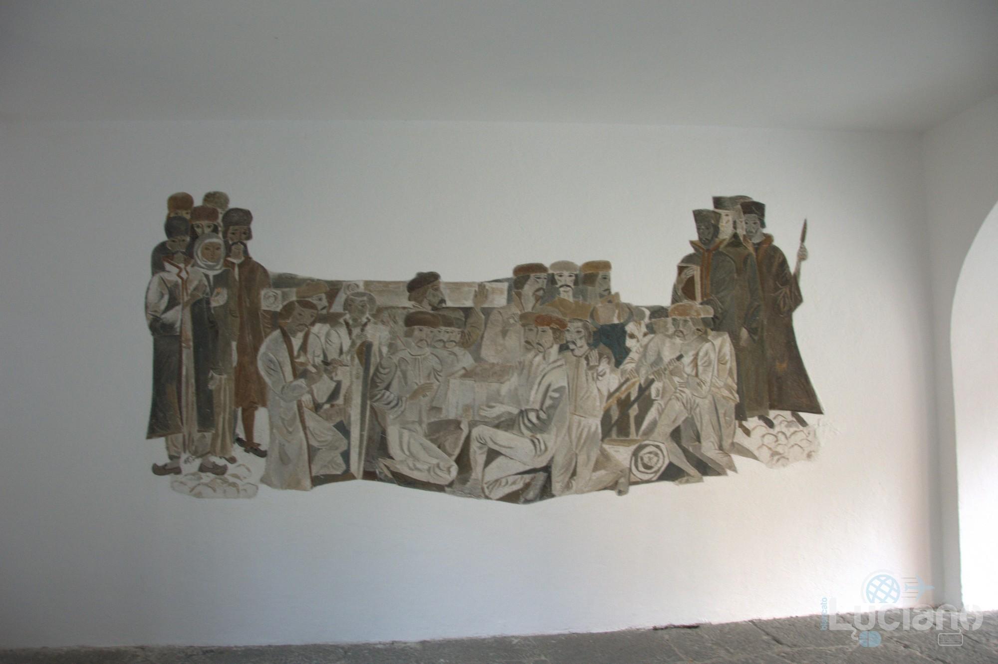 Vista interna - museo ecclesiastico - Monastero di Rila, Рилски Манастир, Rilski Manastir - Sofia - Bulgaria