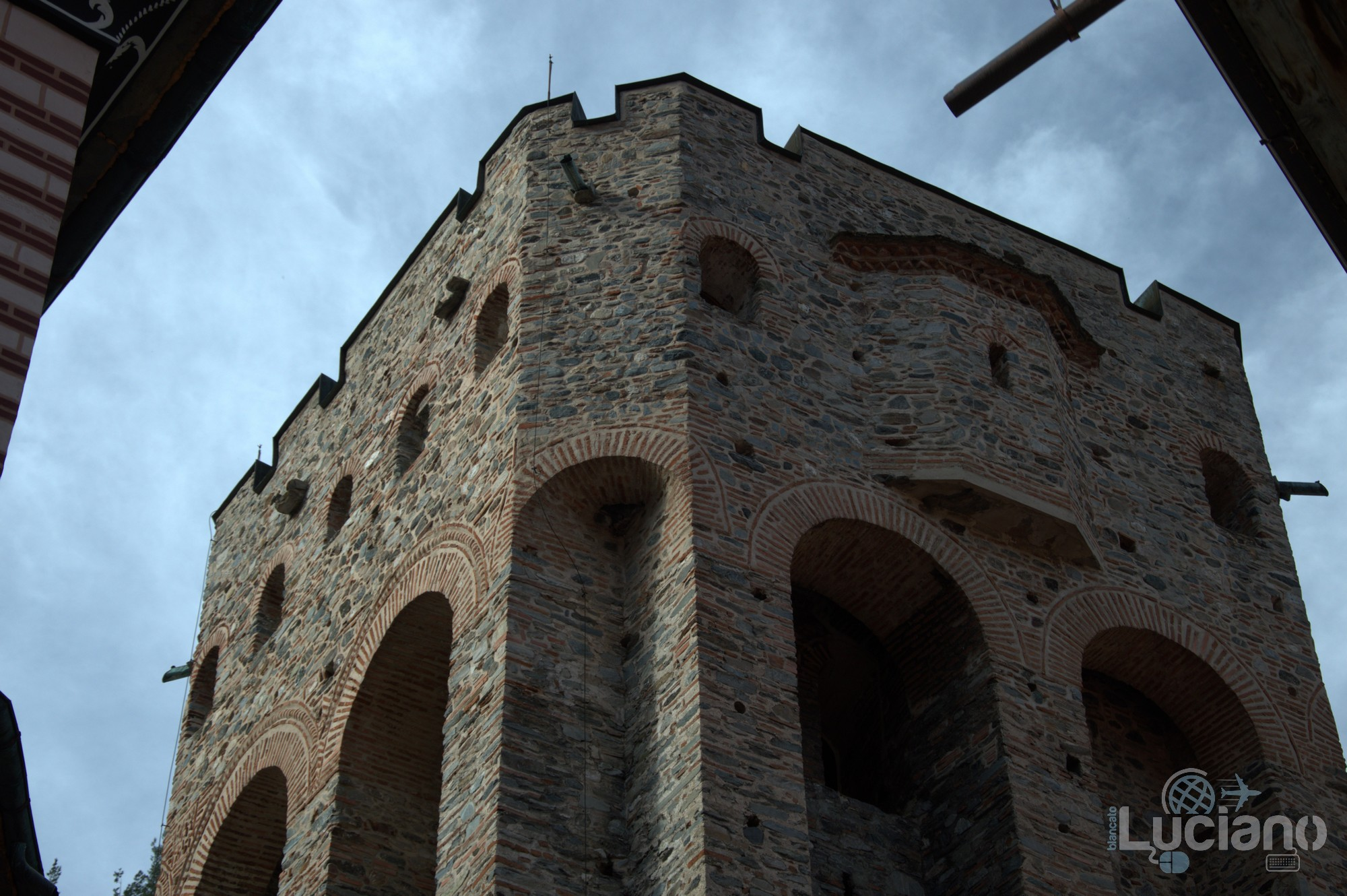 Vista interna - torre - Monastero di Rila, Рилски Манастир, Rilski Manastir - Sofia - Bulgaria