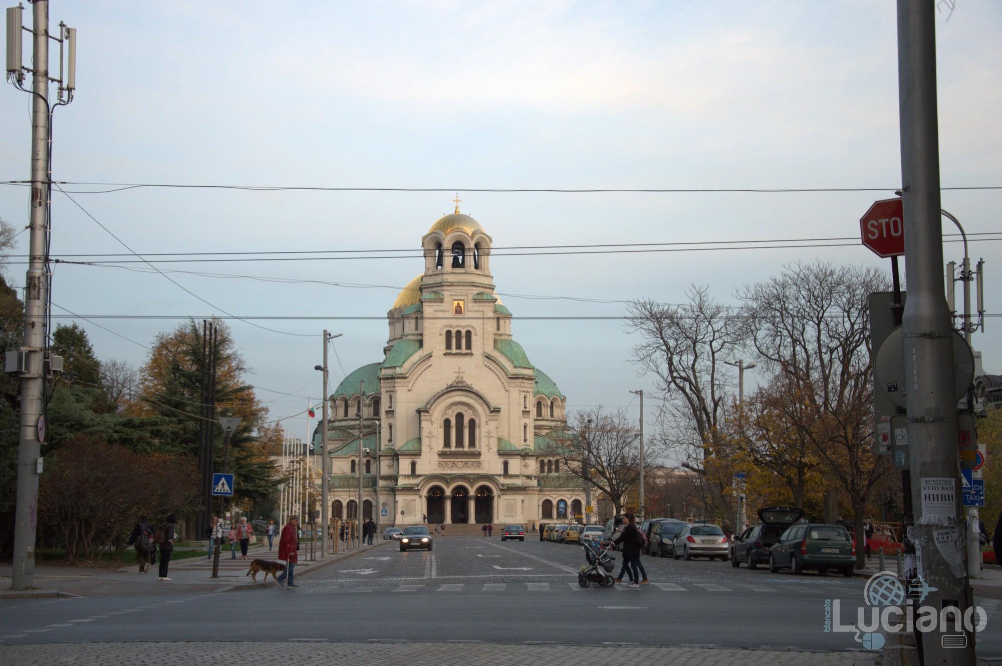 Vista della cattedrale Aleksandar Nevski Sofia - Bulgaria