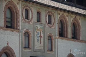 Castello Sforzesco - cortile interno - Milano - Lombardia - Italia