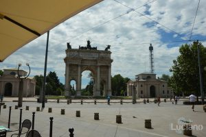 Milano, arco della pace - piazza sempione - Lombardia - Italia