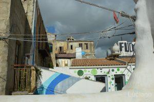 Scorcio sui tetti del Farm Cultural Park a Favara (AG)