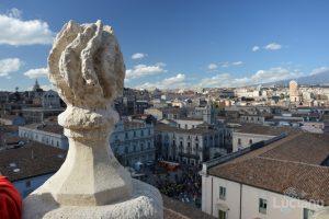 Vista di piazza università dalla Chiesa della Badia di Sant'Agata, durante i festeggiamenti per Sant'Agata 2019 - Catania (CT)