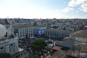 Vista di piazza duomo dalla Chiesa della Badia di Sant'Agata, durante i festeggiamenti per Sant'Agata 2019 - Catania (CT)