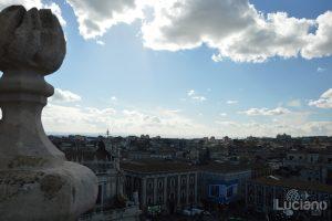 Vista sui tetti di catania dalla Chiesa della Badia di Sant'Agata, durante i festeggiamenti per Sant'Agata 2019 - Catania (CT)