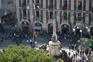 Vista del LIOTRO dalla cupola della Chiesa della Badia di Sant'Agata, durante i festeggiamenti per Sant'Agata 2019 - Catania (CT)