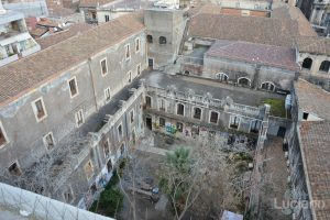 Vista dei tetti dalla Chiesa della Badia di Sant'Agata, durante i festeggiamenti per Sant'Agata 2019 - Catania (CT)