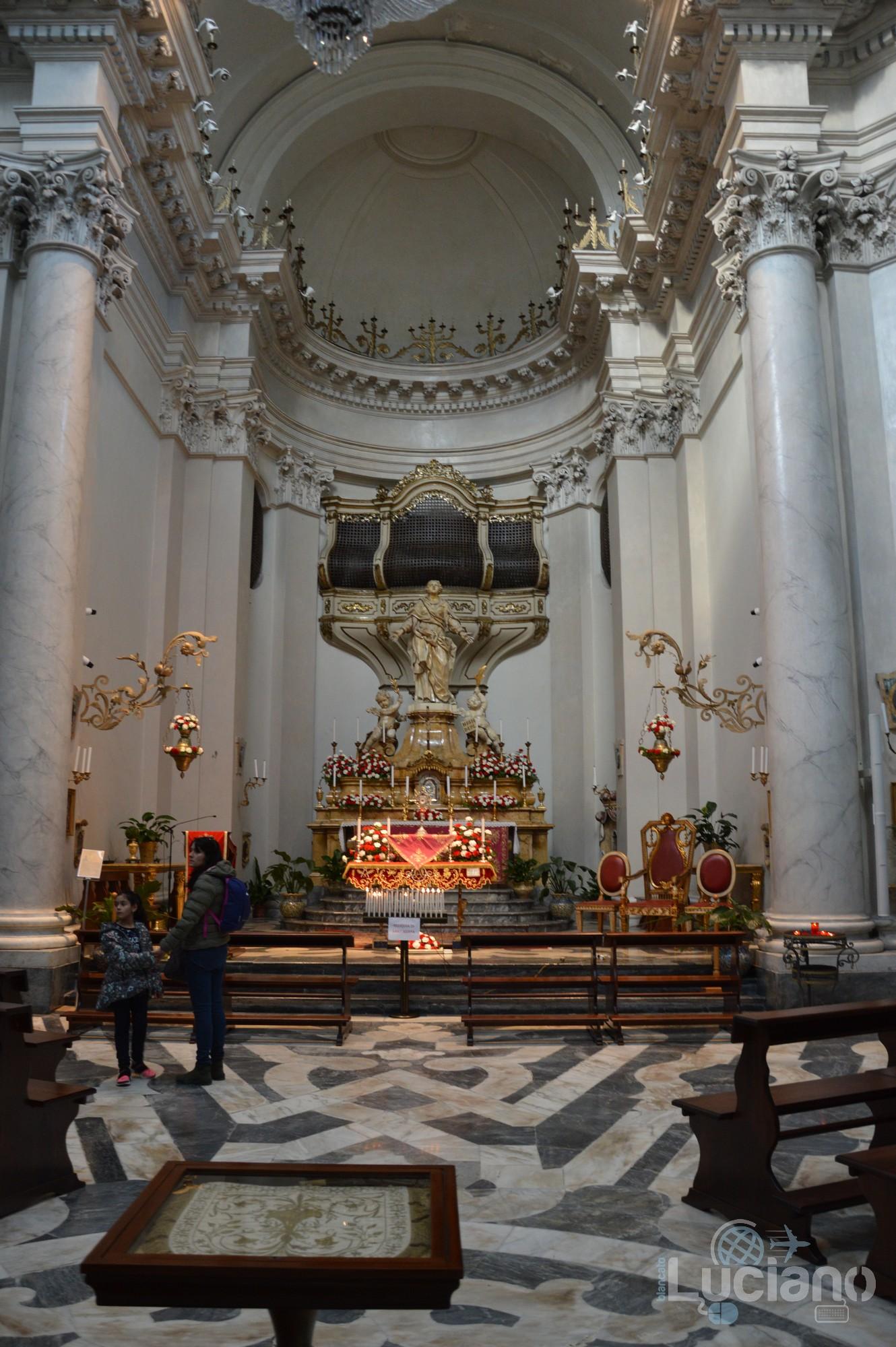 Altare maggiore, presso Chiesa della Badia di Sant'Agata, durante i festeggiamenti per Sant'Agata 2019 - Catania (CT)