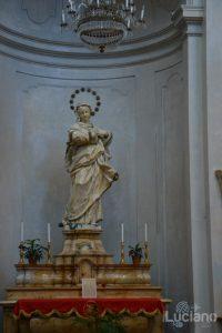 Statua della madonna, presso Chiesa della Badia di Sant'Agata, durante i festeggiamenti per Sant'Agata 2019 - Catania (CT)