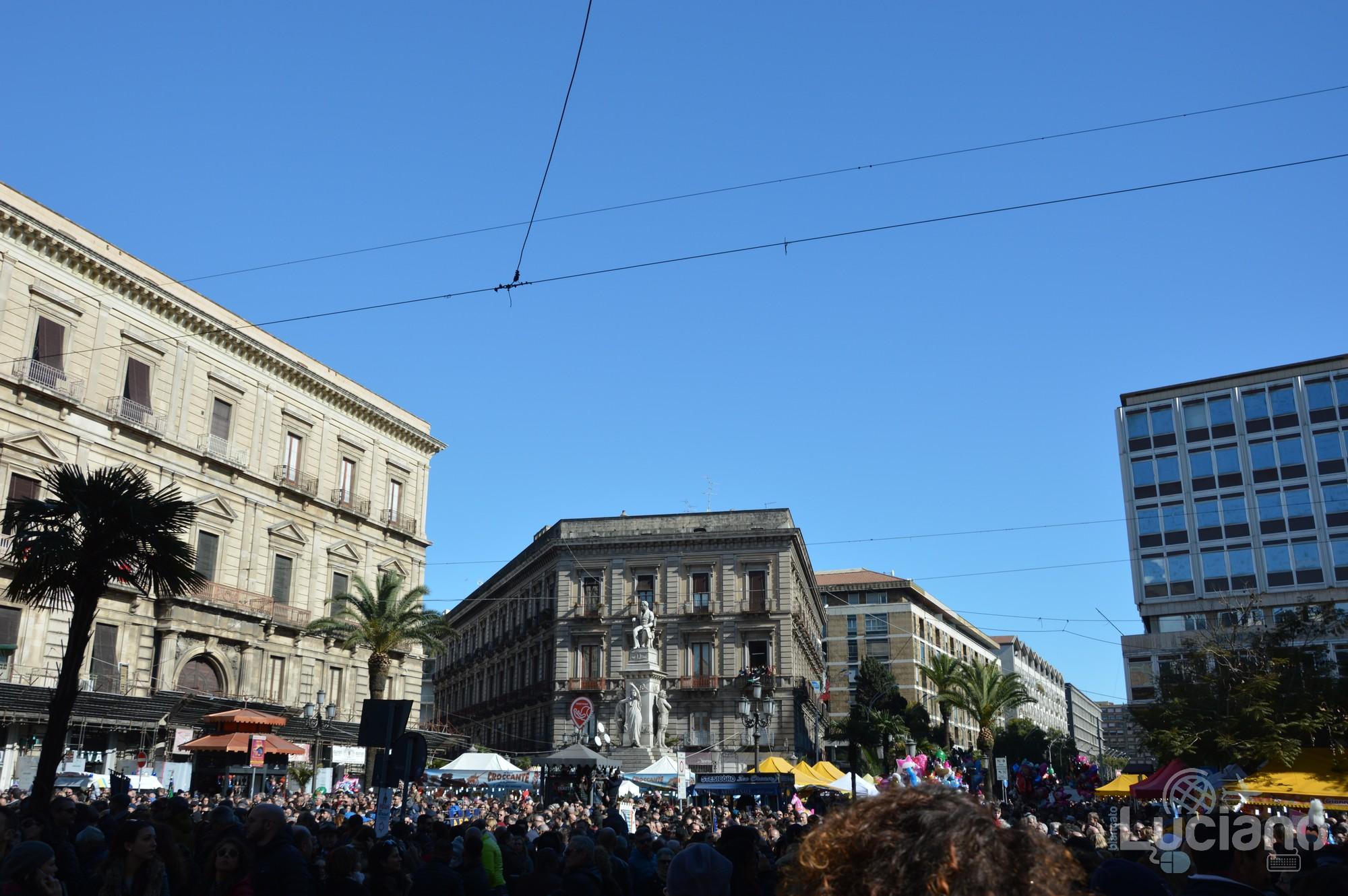 Monumento a Vincenzo Bellini in Piazza Stesicoro. In giro per catania, durante i festeggiamenti per Sant'Agata 2019 - Catania (CT)