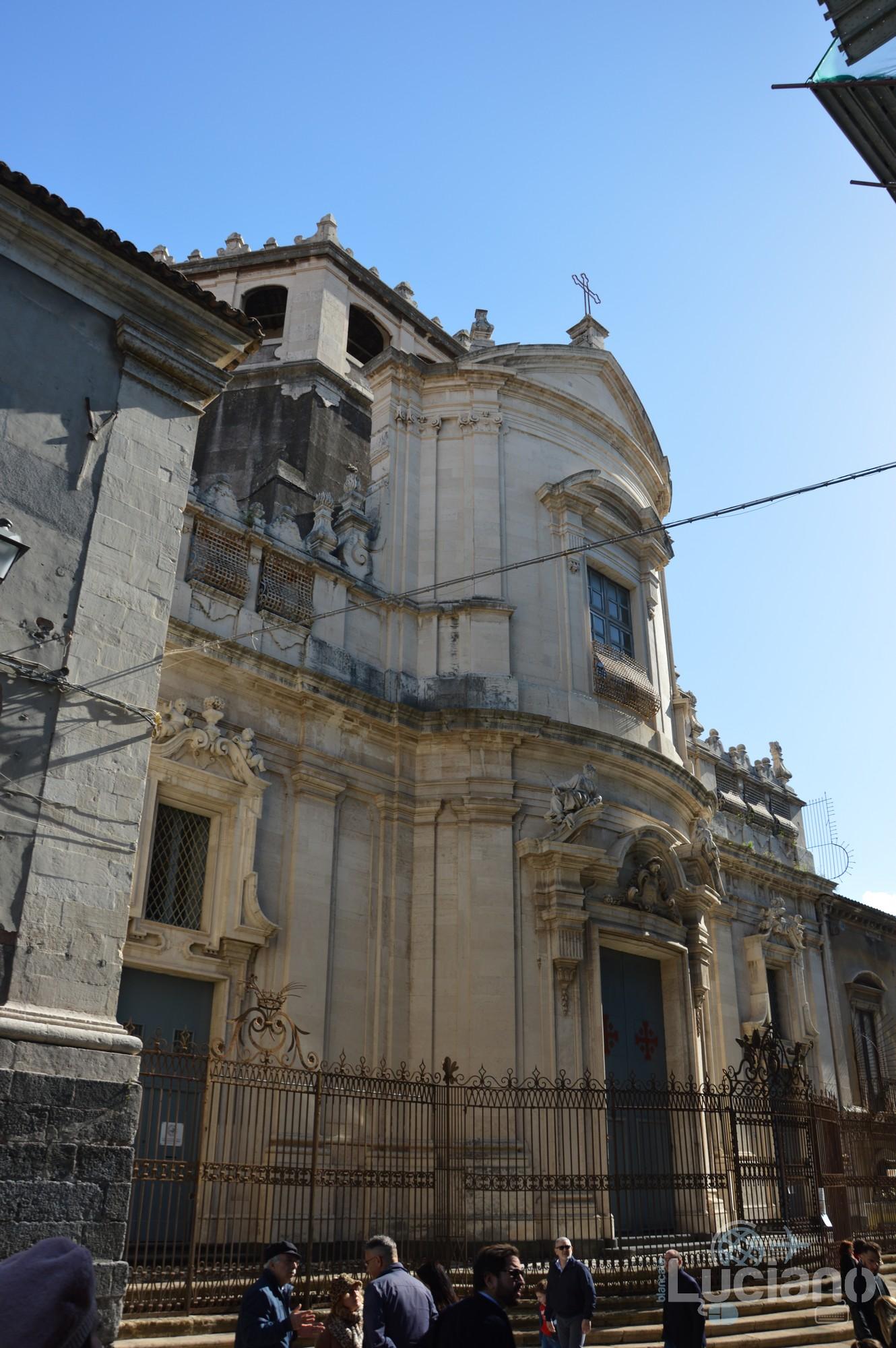 Facciata della Chiesa di San Giuliano, durante i festeggiamenti per Sant'Agata 2019 - Catania (CT)