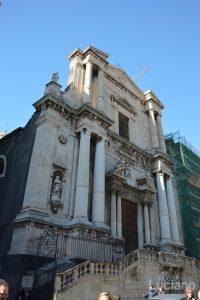 Facciata della Chiesa di San Francesco Borgia, durante i festeggiamenti per Sant'Agata 2019 - Catania (CT)