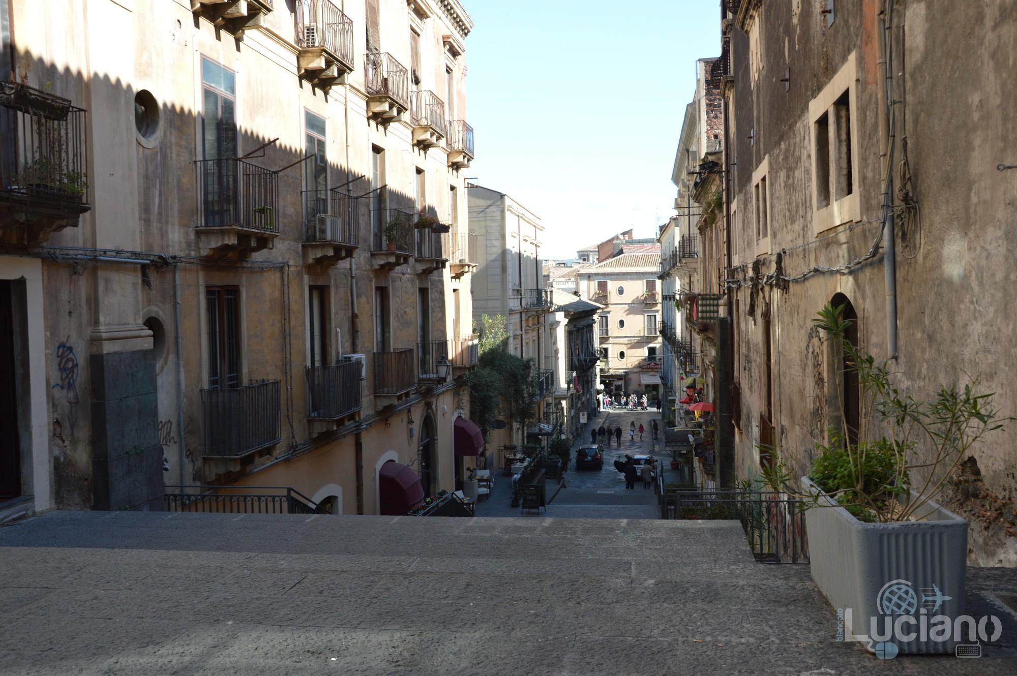 Via/Scalinata Alessi, durante i festeggiamenti per Sant'Agata 2019 - Catania (CT)