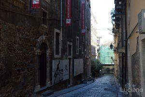 Via San Francesco D'Assisi e Museo Arte Contemporanea di Catania, durante i festeggiamenti per Sant'Agata 2019 - Catania (CT)