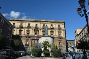 Monumento al Cardinale Dusmet, durante i festeggiamenti per Sant'Agata 2019 - Catania (CT)