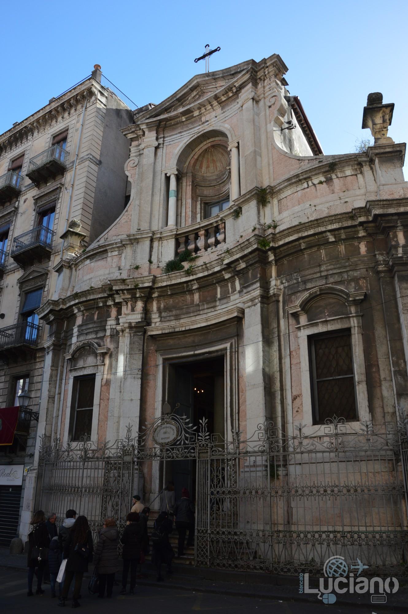 Facciata della Chiesa di San Martino ai Bianchi, durante i festeggiamenti per Sant'Agata 2019 - Catania (CT)