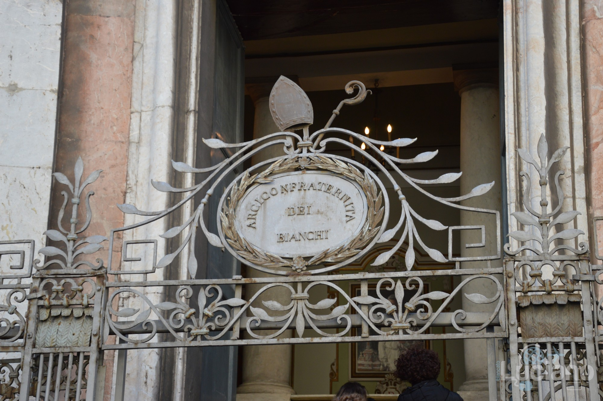 Dettaglio della Chiesa di San Martino ai Bianchi, durante i festeggiamenti per Sant'Agata 2019 - Catania (CT)