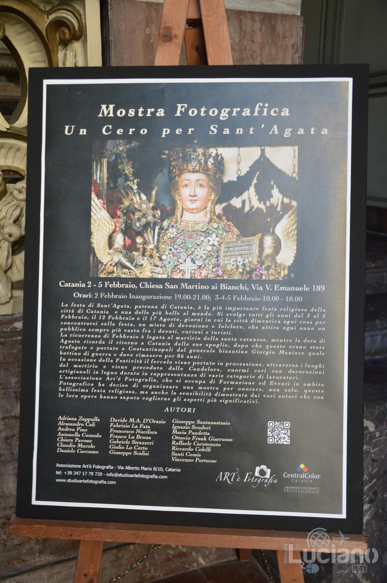 Mostra fotografica dedicata a Sant'Agata nella Chiesa di San Martino ai Bianchi, durante i festeggiamenti per Sant'Agata 2019 - Catania (CT)