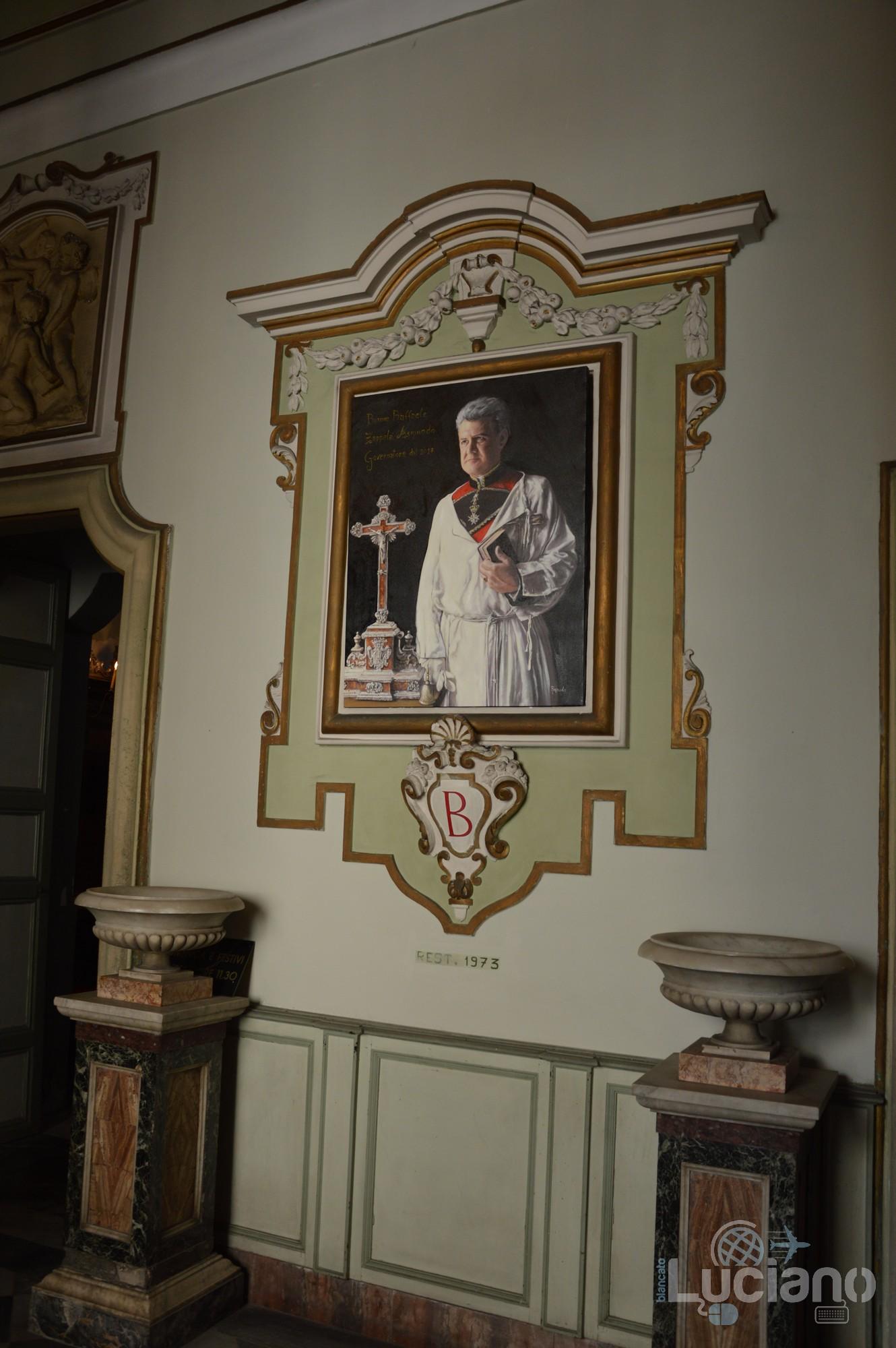 dipinto nella Chiesa di San Martino ai Bianchi, durante i festeggiamenti per Sant'Agata 2019 - Catania (CT)