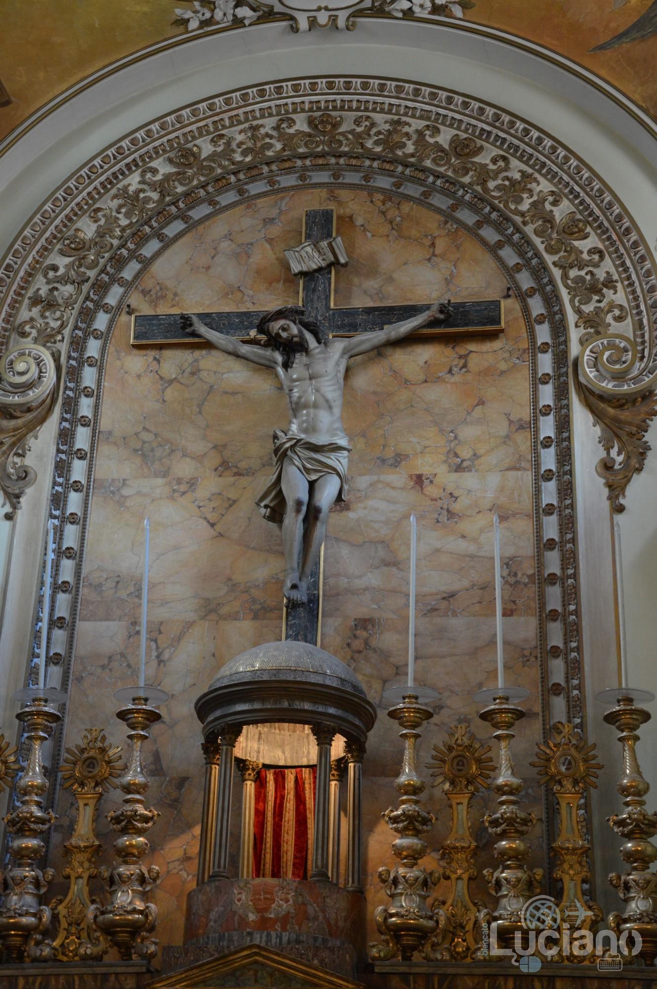 Crocifisso nella Chiesa di San Martino ai Bianchi, durante i festeggiamenti per Sant'Agata 2019 - Catania (CT)
