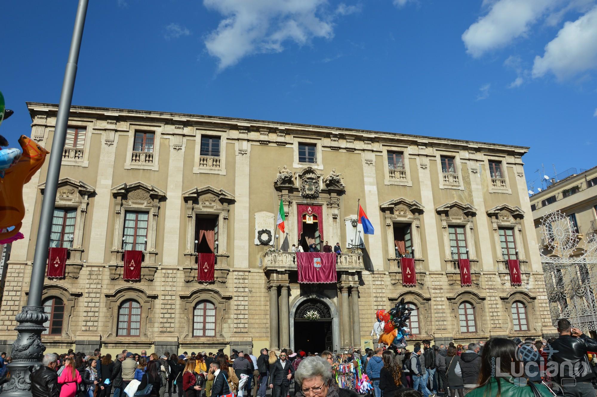 Palazzo Degli Elefanti, durante i festeggiamenti per Sant'Agata 2019 - Catania (CT)