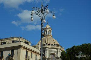Vista della cupola della Chiesa della Badia di Sant'Agata, durante i festeggiamenti per Sant'Agata 2019 - Catania (CT)