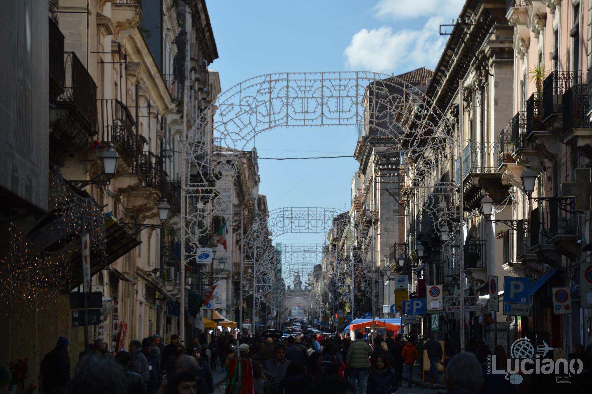 Via Giuseppe Garibaldi, durante i festeggiamenti per Sant'Agata 2019 - Catania (CT)