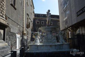 Fontana dell'amenano (detta funtana acqua o linzolu), durante i festeggiamenti per Sant'Agata 2019 - Catania (CT)