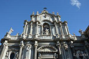 facciata Cattedrale di Sant'Agata (duomo), durante i festeggiamenti per Sant'Agata 2019 - Catania (CT)